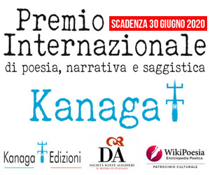 Premio Internazionale di Poesia, Narrativa e Saggistica KANAGA 2020