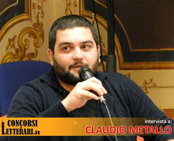Una foto dello scrittore e documentarista Claudio Metallo